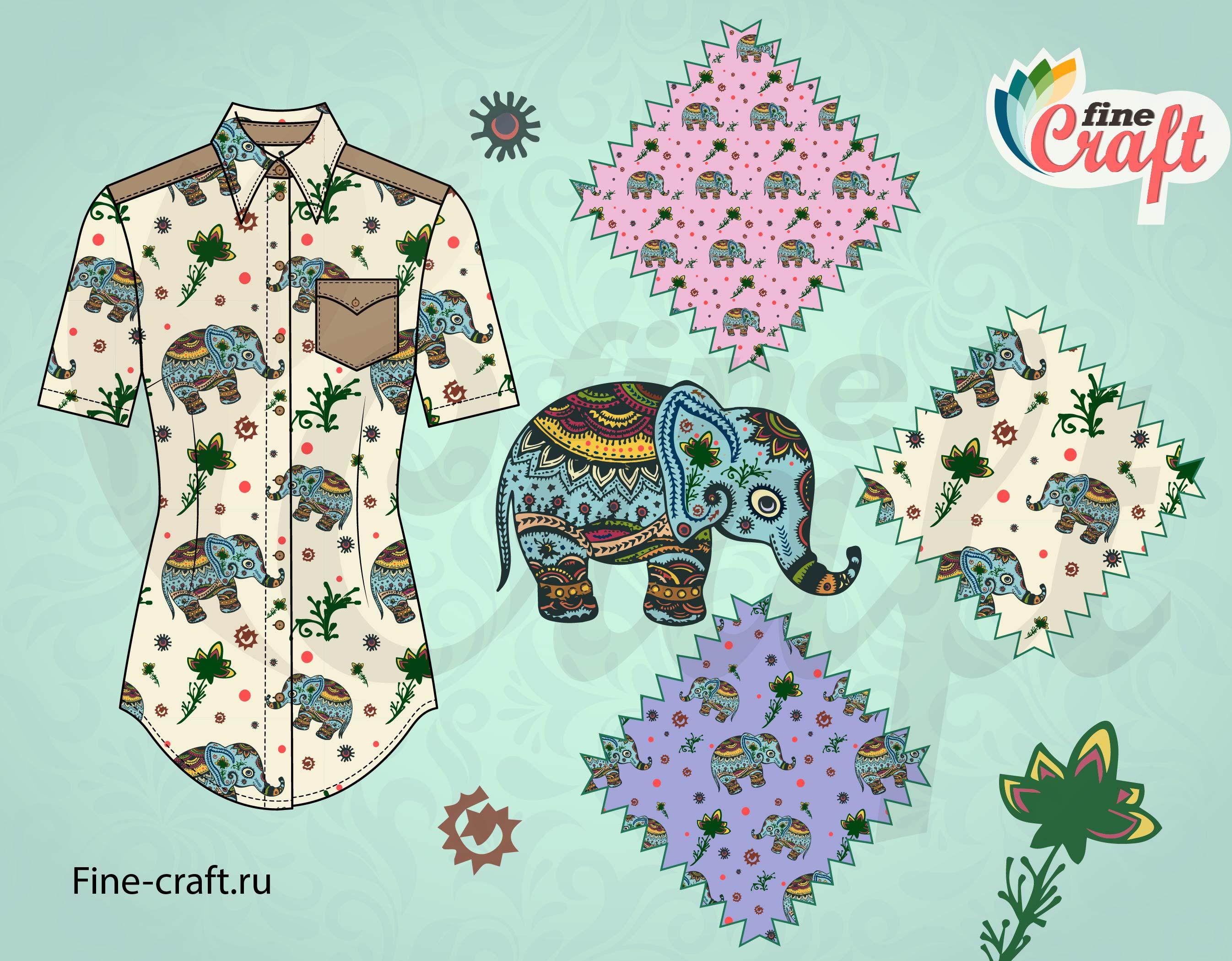 Блуза с вариантами принтов